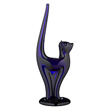 Buy Bristol Blue Glass Cat Sculpture Online at johnlewis.com