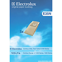 Buy Electrolux E35N Vacuum Cleaner Bags, Pack of 5 Online at johnlewis.com