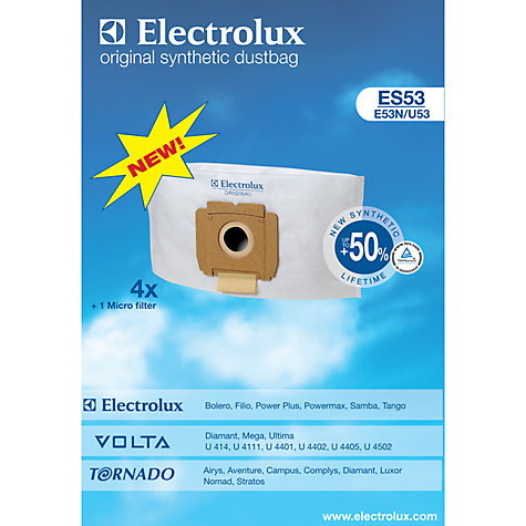 Buy Electrolux ES53 Filter Vacuum Cleaner Bags, Pack of 5 Online at johnlewis.com
