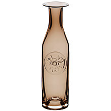 Buy Dartington Crystal Flower Bottle Vase, Brown Poppy Online at johnlewis.com