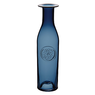 Dartington Crystal Flower Bottle, Indigo Dahlia