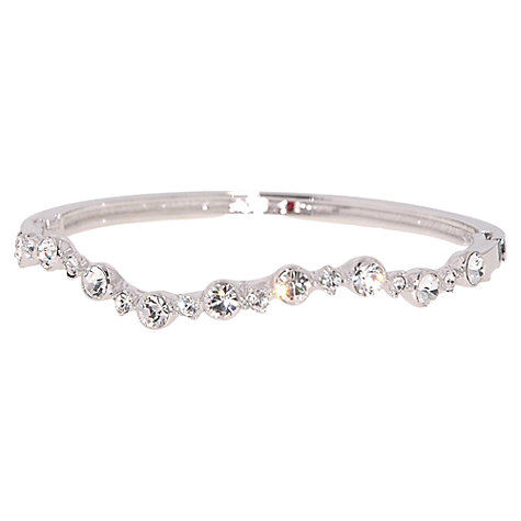 Buy Cachet London Laura Rhodium Plated Crystal Bangle Online at johnlewis.com