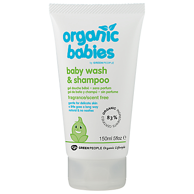 Organic Baby No Scent Baby Wash and Shampoo, 150ml
