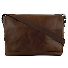 Buy Hidesign Andre Leather Messenger Bag, Brown Online at johnlewis.com