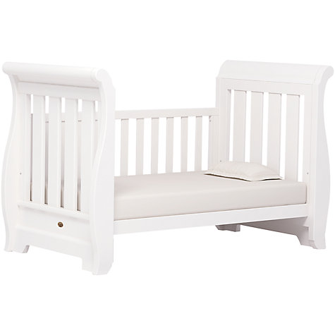 Buy Boori Sleigh Cotbed, White Online at johnlewis.com