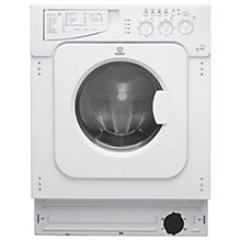 Buy Indesit IWDE126 Integrated Washer Dryer Online at johnlewis.com