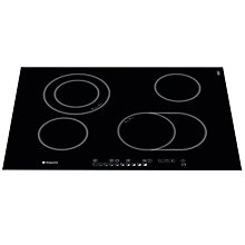 Buy Hotpoint CRO742DOB Ceramic Hob, Black Online at johnlewis.com