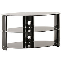 Buy John Lewis JL1100/3BB Television Stand for TVs up to 51-inch, Black Glass Online at johnlewis.com