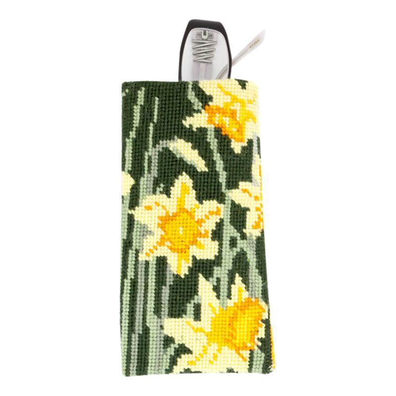 Cleopatra's Needle Cleopatra's Needle Daffodils Glasses Case Tapestry Kit