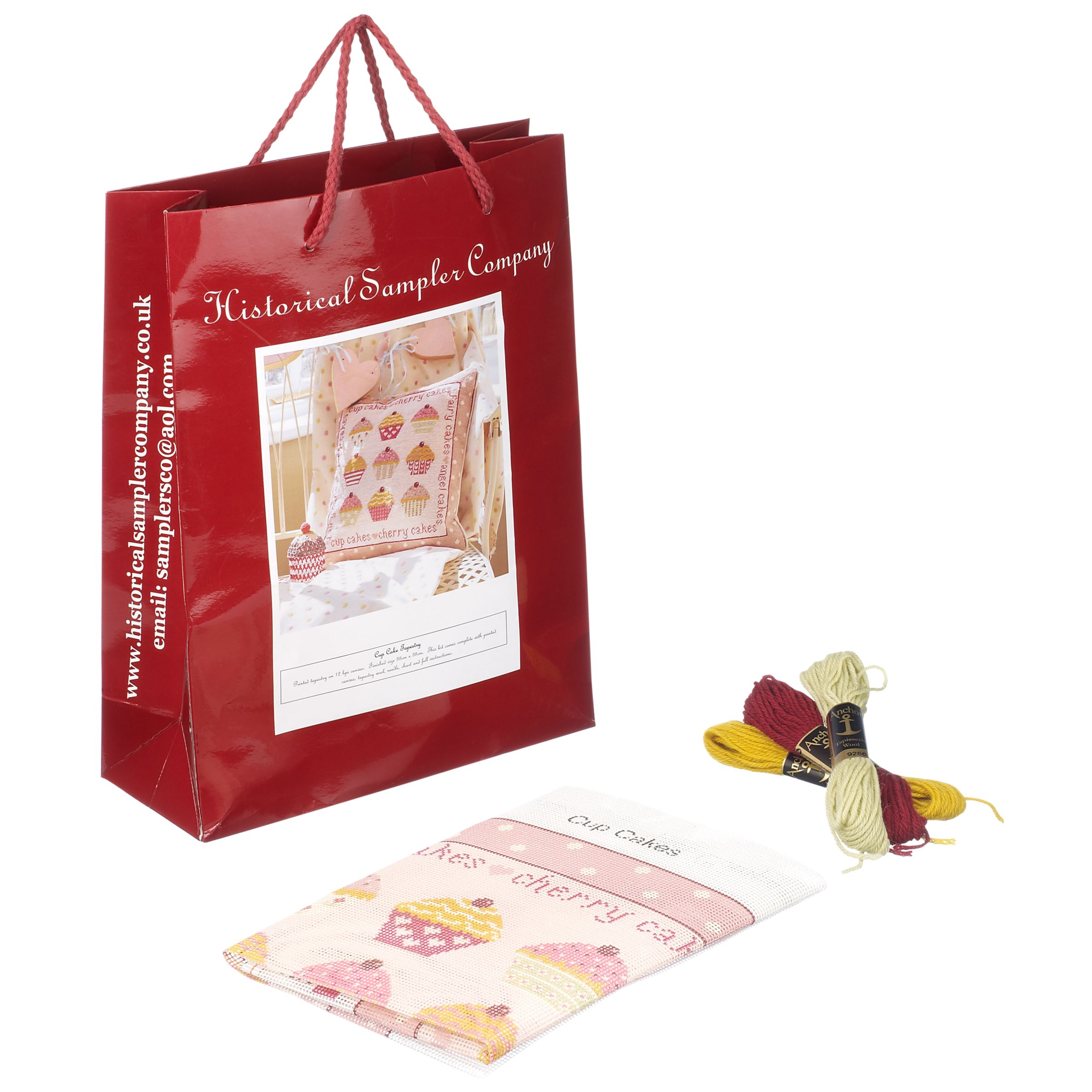 Buy The Historical Sampler Company Cup Cakes Tapestry Kit ...