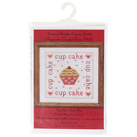 Buy The Historical Sampler Company Cup Cake Beginners' Counted Cross-Stitch Kit Online at johnlewis.com