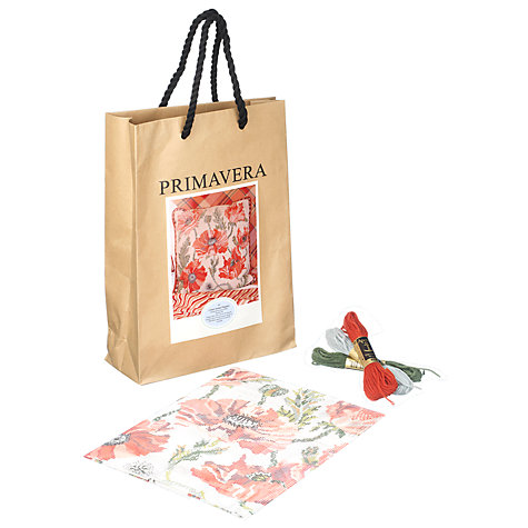 Buy Primavera Cream Indian Poppies Cushion Tapestry Kit Online at johnlewis.com