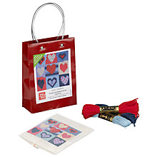 Buy Jolly Red Quilt Hearts Starter Tapestry Kit Online at johnlewis.com