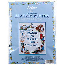 Buy Anchor Beatrix Potter Birth Sampler Tapestry Kit Online at johnlewis.com