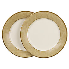 Buy Caspari Paper Plates, Pack of 8, Gold Moire Online at johnlewis.com