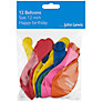 John Lewis Balloons, Pack of 12, Happy Birthday