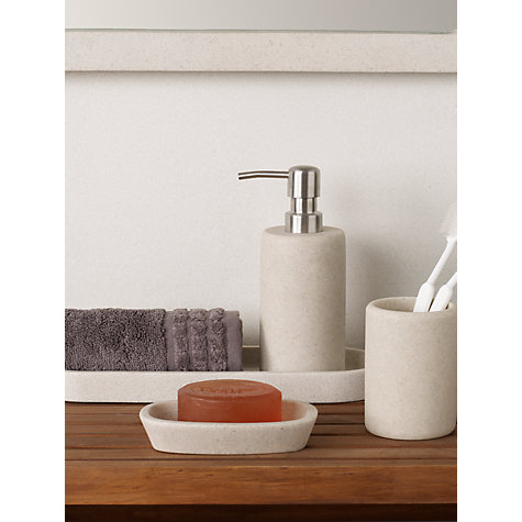 Buy John Lewis Dune Soap Pump, Sandstone Online at johnlewis.com