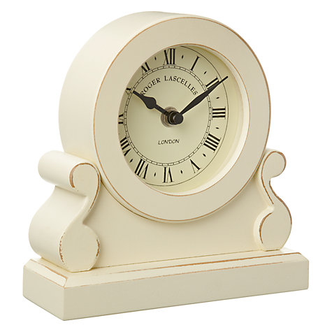 Buy Lascelles Cream Distressed Mantel Clock Online at johnlewis.com