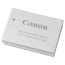 Buy Canon NB-5L Rechargeable Li-ion Battery Online at johnlewis.com