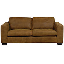 Buy John Lewis Felix Large Semi-Aniline Leather Sofa, Ashanti Brown Online at johnlewis.com