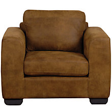 Buy John Lewis Felix Leather Armchair with Dark Legs Online at johnlewis.com
