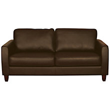 Buy John Lewis Portia Medium Leather Sofa with Dark Legs, Earth Online at johnlewis.com