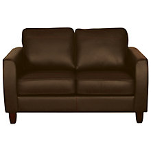 Buy John Lewis Portia Leather Small Sofa with Dark Legs, Earth Online at johnlewis.com