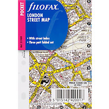 Buy Filofax Pocket Inserts, London Street Map Online at johnlewis.com