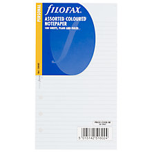 Buy Filofax Personal Inserts, Value Coloured Paper Online at johnlewis.com