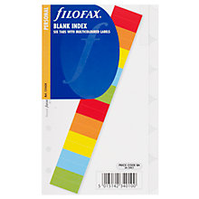 Buy Filofax Personal Inserts, Multi Blank Tabs Online at johnlewis.com