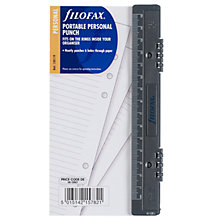 Buy Filofax Personal Inserts, Portable Hole Punch Online at johnlewis.com
