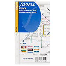 Buy Filofax Personal Inserts, London Underground Map Online at johnlewis.com