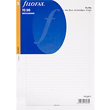 Buy Filofax A4 Inserts, To Do, 5 Language Online at johnlewis.com
