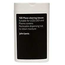 Buy John Lewis CTJ2 Screen Cleaner Wipes, Pack of 100 Online at johnlewis.com
