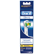 Buy Braun Oral-B 3D White Toothbrush Refills, EB18-4, Pack of 4 Online at johnlewis.com