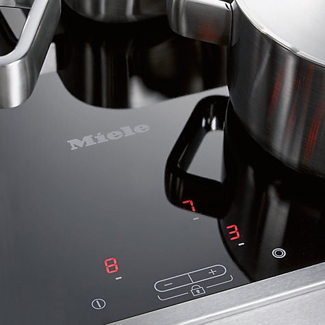 Buy Miele KM5600 Ceramic Hob, Black/Stainless Steel Online at johnlewis.com