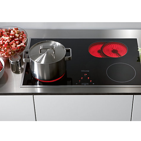 Buy Miele KM5617 Ceramic Hob, Black/Stainless Steel Online at johnlewis.com