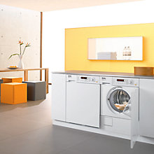 Buy Miele W2819IR Semi-Integrated Washing Machine, 5.5kg Load, A+ Energy Rating, 1400rpm Spin, White Online at johnlewis.com