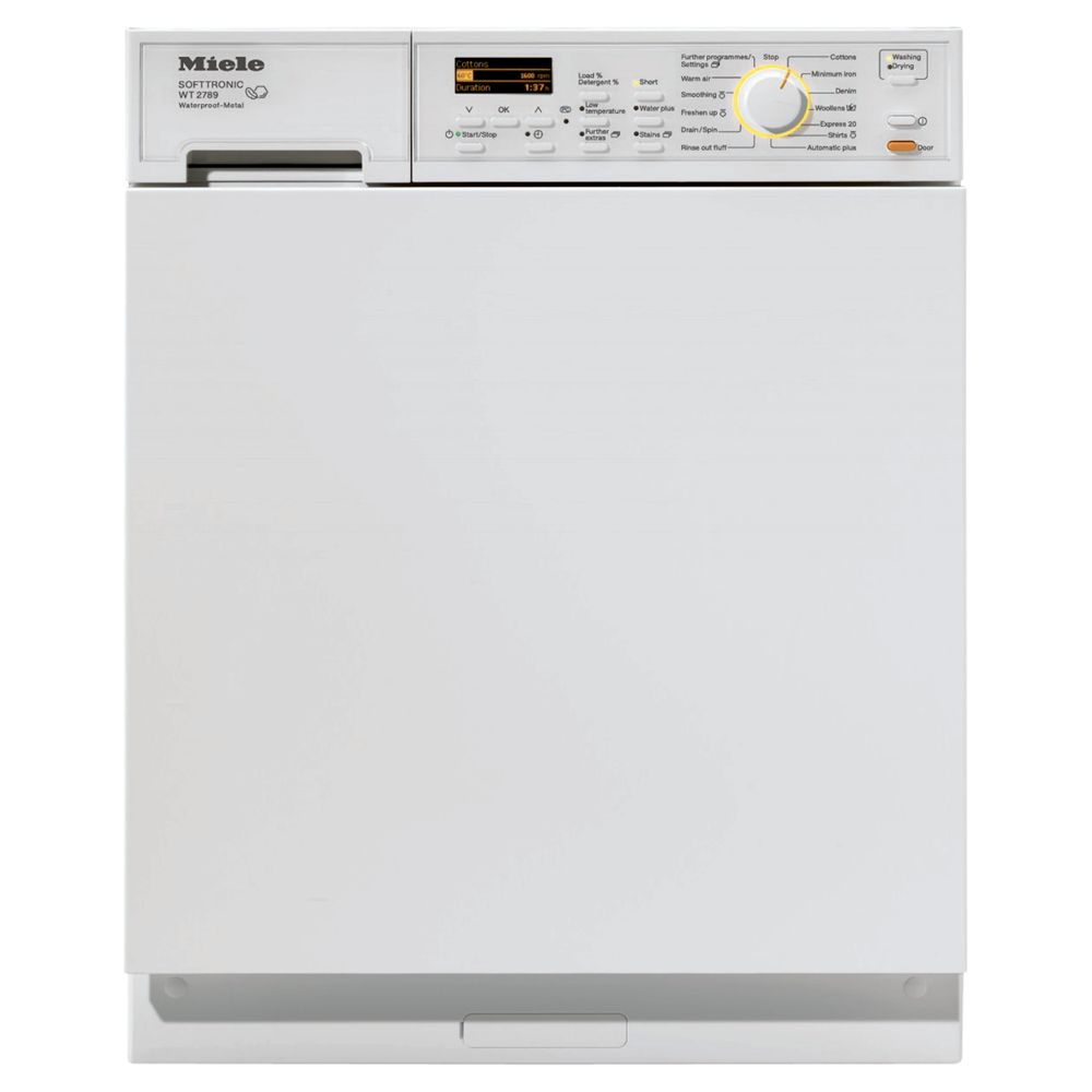 Miele WT2789i WPM Built In 1600 Spin Washer Dryer with White Fascia