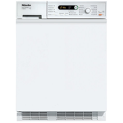 Buy Miele T4819Ci Semi Integrated Condenser Tumble Dryer, 6kg Load, B Energy Rating, White Online at johnlewis.com