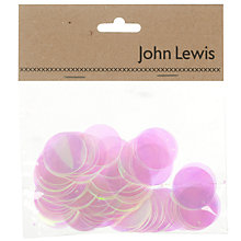 Buy John Lewis Sequins, Purple, Pack of 100 Online at johnlewis.com