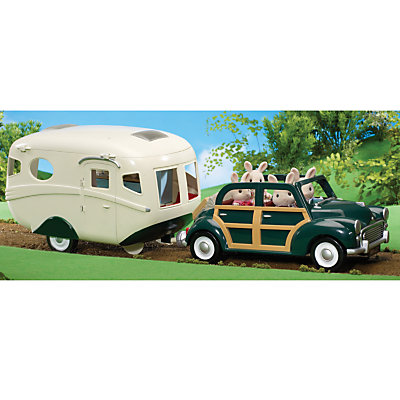 Sylvanian Families Green Family Car and Caravan