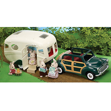 Buy Sylvanian Families Green Family Car and Caravan Online at johnlewis.com