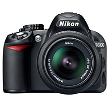"Buy Nikon D3100 Digital SLR Camera with 18-55mm & 70-300mm Lens, HD 1080p, 14.2 MP, 3x Optical Zoom, 3"" LCD Screen Online at johnlewis.com"
