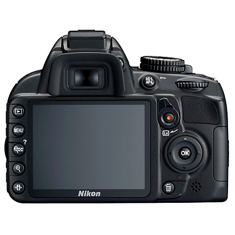 "Buy Nikon D3100 Digital SLR Camera with 18-55mm Lens, HD 1080p, 14.2 MP, 3x Optical Zoom, 3"" LCD Screen Online at johnlewis.com"