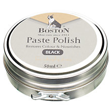 Buy Gloss Wax Shoe Polish, Black Online at johnlewis.com