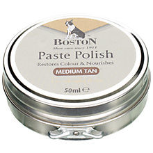 Buy Gloss Wax Shoe Polish, Medium Tan Online at johnlewis.com
