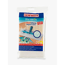 Buy Leifheit Clean & Away Mop Refill Cloths, Pack of 32 Online at johnlewis.com