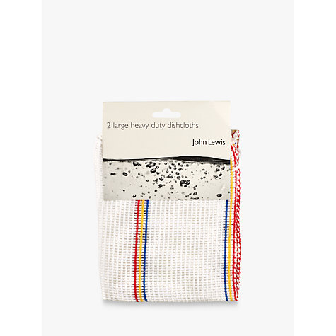 Buy John Lewis The Basics Heavy Duty Dishcloths, Pack of 2 Online at johnlewis.com