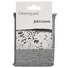 Buy John Lewis The Basics Cleaning Pad, Silver Online at johnlewis.com